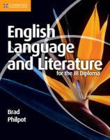 English Language and Literature for the IB Diploma, English Language and Literature for the IB Diploma
