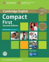 Compact First Student's Book Pack (Student's Book with Answers with CD-ROM   and Class Audio CDs(2)) 2nd Revised edition