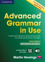 Advanced Grammar in Use Book with Answers and Interactive eBook: A Self-Study Reference and Practice Book for Advanced Learners of English 3rd Revised edition