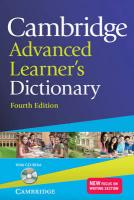 Cambridge Advanced Learner's Dictionary with CD-ROM 4th Revised edition