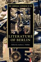 Cambridge Companions to Literature, The Cambridge Companion to the Literature of Berlin