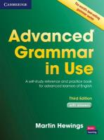 Advanced Grammar in Use with Answers: A Self-Study Reference and Practice Book for Advanced Learners of English 3rd Revised edition