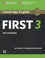 FCE Practice Tests, Cambridge English First 3 Student's Book with Answers with Audio