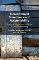 Decentralized Governance and Accountability: Academic Research and the Future of Donor Programming