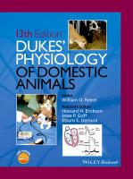 Dukes' Physiology of Domestic Animals, 13th Edition 13th Revised edition