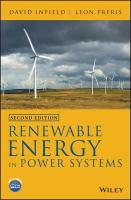 Renewable Energy in Power Systems 2nd Edition