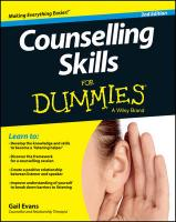 Counselling Skills For Dummies 2nd Edition