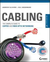 Cabling: The Complete Guide to Copper and Fiber-Optic Networking 5th Edition
