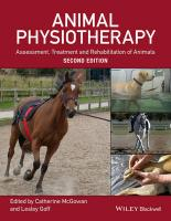 Animal Physiotherapy 2E: Assessment, Treatment and Rehabilitation of Animals 2nd Revised edition