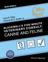 Blackwell's Five-Minute Veterinary Consult: Canine and Feline 6th Revised edition