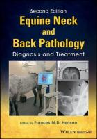 Equine Neck and Back Pathology: Diagnosis and Treatment 2nd Edition