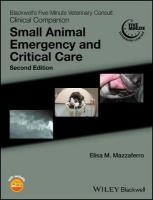 Blackwell's Five-Minute Veterinary Consult Clinical Companion: Small Animal Emergency and Critical Care 2nd Edition