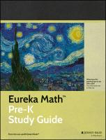 Eureka Math Pre-K Study Guide: A Story of Units Educator ed, Grade PK