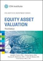 Equity Asset Valuation 3rd Edition