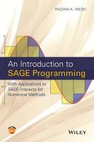 Introduction to SAGE Programming: With Applications to SAGE Interacts for Numerical Methods