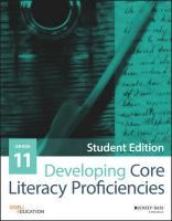 Developing Core Literacy Proficiencies, Grade 11 Student Edition, Grade 11