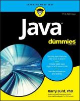 Java for Dummies, 7th Edition 7th Revised edition
