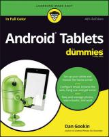 Android Tablets For Dummies 4th ed.
