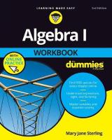 Algebra I Workbook for Dummies 3E with Online Practice 3rd Revised edition
