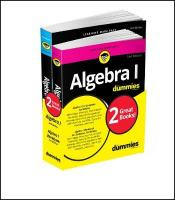Algebra I Workbook For Dummies with Algebra I For Dummies 3e Bundle 3rd Revised edition
