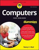 Computers For Seniors For Dummies 5th Edition