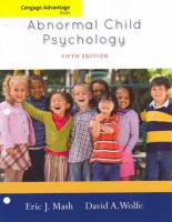 Abnormal Child Psychology 5th