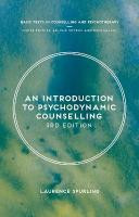 Introduction to Psychodynamic Counselling 3rd Revised edition