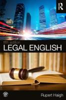 Legal English 5th New edition