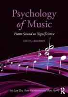 Psychology of Music: From Sound to Significance 2nd New edition