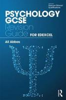Psychology GCSE Revision Guide for Edexcel