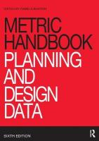 Metric Handbook: Planning and Design Data 6th New edition