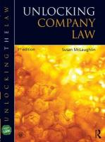 Unlocking Company Law 3rd New edition