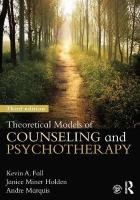 Theoretical Models of Counseling and Psychotherapy 3rd Revised edition