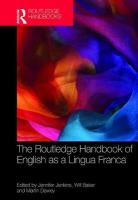 Routledge Handbook of English as a Lingua Franca