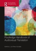 Routledge Handbook of Audiovisual Translation