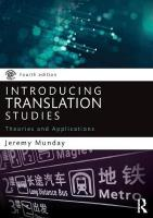 Introducing Translation Studies: Theories and Applications 4th New edition