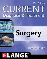 Current Diagnosis and Treatment Surgery 15th edition