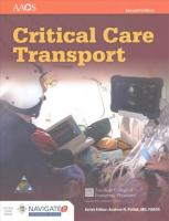 Critical Care Transport 2nd Revised edition