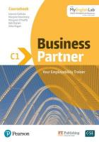 Business Partner C1 Coursebook and Standard MyEnglishLab Pack