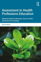 Assessment in Health Professions Education 2nd New edition