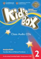 Kid's Box Level 2 Class Audio CDs (4) American English Updated edition