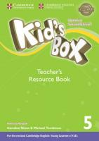 Kid's Box Level 5 Teacher's Resource Book with Online Audio American English 2nd Revised edition