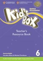 Kid's Box Level 6 Teacher's Resource Book with Online Audio American English 2nd Revised edition