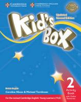 Kid's Box Level 2 Activity Book with Online Resources British English Updated edition