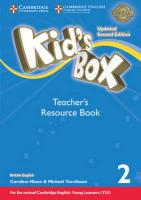Kid's Box Level 2 Teacher's Resource Book with Online Audio British English Updated edition