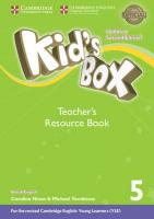Kid's Box Level 5 Teacher's Resource Book with Online Audio British English Updated edition