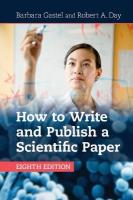How to Write and Publish a Scientific Paper 8th Revised edition