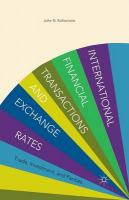 International Financial Transactions and Exchange Rates: Trade, Investment, and Parities 1st ed. 2013