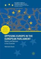 Opposing Europe in the European Parliament: Rebels and Radicals in the Chamber Softcover reprint of the original 1st ed. 2018