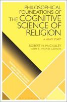 Philosophical Foundations of the Cognitive Science  of Religion: A Head Start